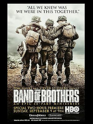 """Band of Brothers 16"""" x 12"""" Reproduction Movie Poster Photograph 1"""