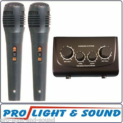 KARAOKE on any Sound System - Two Microphones plus Mixer with Echo