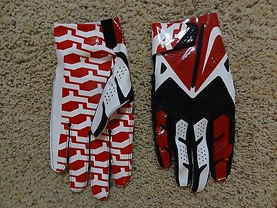 NIKE Vapor Fly Red White & Black Football Gloves Tampa Bay Buccaneers XXL NEW