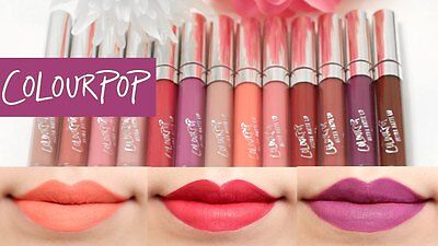 Colourpop Ultra Matte Liquid Lipstick Colour Pop Long Lasting Lip Colors New
