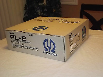 Pioneer PL-2 Vintage  N.O.S Turntable with box manual New in Box