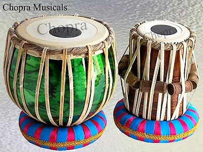 Tabla Drum Student Colored Bayan & Wood Sheesham Dayan Ring + Hammer+Box Free!
