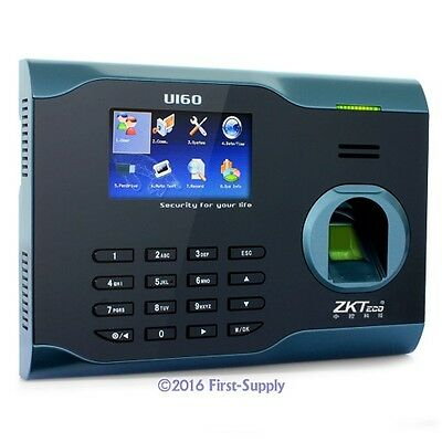 ZKSoftware Biometric Fingerprint TimeClock TCP/iP + WIFI+ USB High-performance