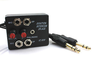 SkyLite Aviation Pilots Aircraft Intercom 2 Users (Calls/Music)