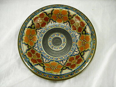 """1926 Pzh Gouda """"romeo"""" 10 Inch Rimmed Bowl 793 Holland Arts And Crafts"""