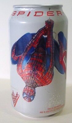 2002 DIET DR PEPPER CAN 12oz. ( SPIDER-MAN  ) BOTTOM OPENED