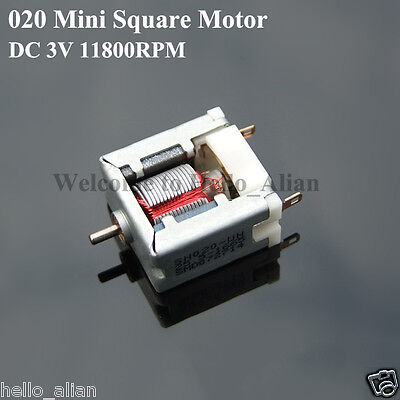Micro Mini 020 Square DC Motor DC 3V 11800RPM High Speed For Hobby Toy Model Kit