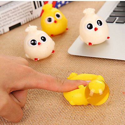 6cm Novelty Splat Egg Squeeze Stress Reliever Venting Ball Joke Squishy Toy