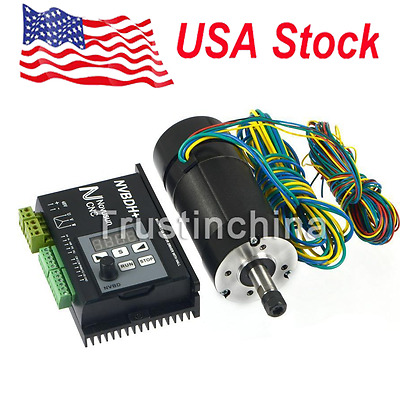 Brushless Motor Driver w/ Hall Controller 400W CNC Motor for Spindle Engraving