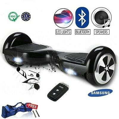 """6.5"""" Electric Scooter- Hover Board- Bluetooth Speaker- Samsung Battery - Remote"""