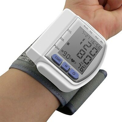 Digital Wrist Bp Blood Pressure Monitor Meter Sphygmomanometer with Wriatband LE