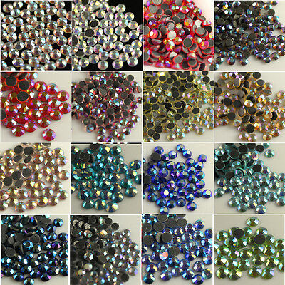 1440 ss20 5mm DMC faceted Glass Iron-on Hot-fix Rhinestone Crystal Flatback bead