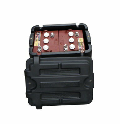 2x Trojan T105 Boat Batteries & Battery Box - 225Ah - 2 Years Warranty