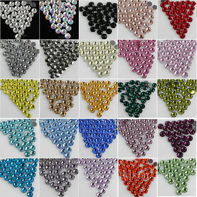 288 ss30 6mm DMC faceted Glass Iron-on Hot-fix Rhinestone Crystal Flatback beads
