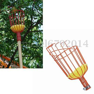Metal Fruit Picker Picking Basket Apple Pears Orange Plums Peach Gardening Tools