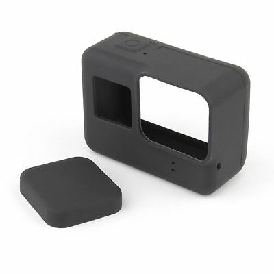 For GoPro HERO 5 Silicon Soft Case Protective Dirtproof Skin Cover and Lens Cap