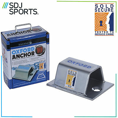 Oxford Anchor 10  High Security Ground / Wall Anchor For Use With Bike Locks