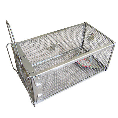 Hunting Trap Cage Small Animal Catch Alive Mouse Rabbit Snares Catch Cage US