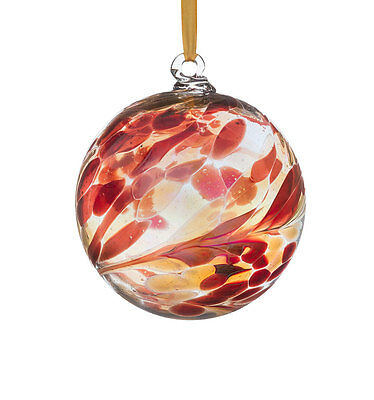 Glass January Birthstone 10cm Friendship Ball With Gift Box By Sienna Glass