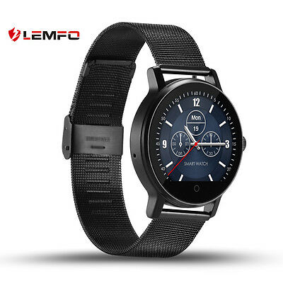 Lemfo SMA09 Bluetooth Wireless Heart Rate Monitor Smart Watch For Android IOS