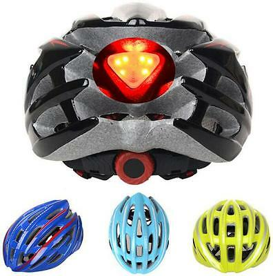 Unisex Road Bike Cycling Helmet Visor Bicycle Protective Gear LED Tail Light New