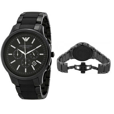 Brand New Emporio Armani AR1451 Mens Black Ceramic Chronograph Ceramica Watch