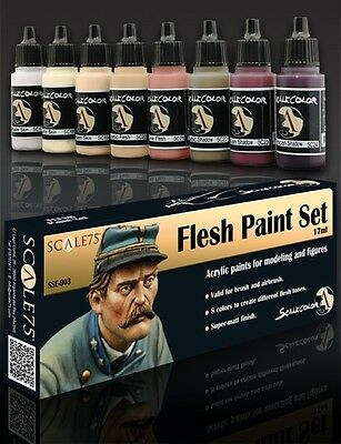 PAINT SET FLESH SSE-003 Acrylic paint Scale75 Airbrush Brush Skin Matt Face