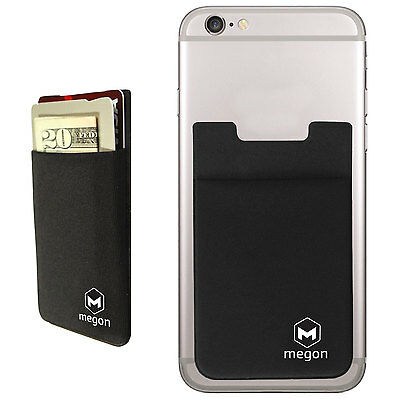 Universal Cell Phone Credit Card Holder Stick On Wallet Case w/ RFID Blocking
