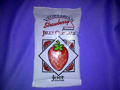 JUST WHOLEFOODS, Vegetarian Strawberry Jelly Crystals, 85g Gelatine Free VEGAN