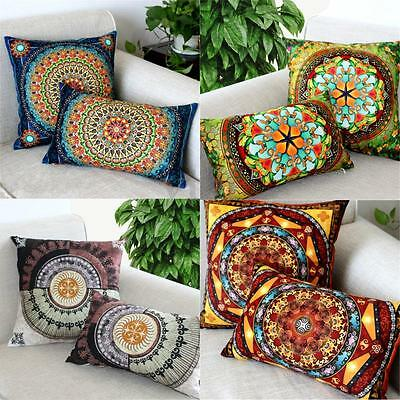 Square Rectangle Cotton Linen Pillow Case Bed Throw Cushion Covers Home Decor