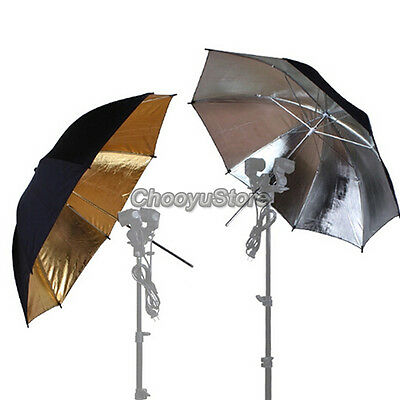 33''/84cm Photo Studio Flash Light Diffuser Black Silver Gold Reflector Umbrella