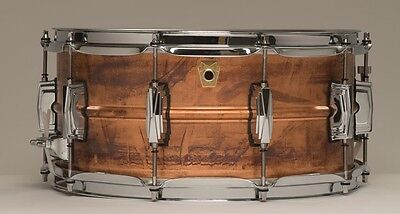 Ludwig *FREE UK & EU SHIPPING* Copper-Phonic 14 6.5 Copper Snare Drum LC663 RAW