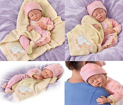 Counting Sheep Weighted Poseable Lifelike Baby Doll by Ashton-Drake