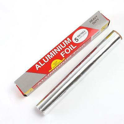 5M Kitchen Catering Aluminum Tin Foil BBQ Grill Food Roasting Oven Baking Wrap