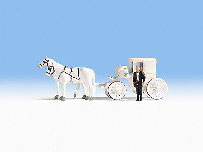 Horse Drawn Wedding Carriage - OO/HO figures - Noch 16706 - free post