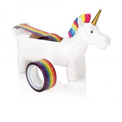 Unicorn Tape Dispenser with Rainbow Tape funny office decor gift horse washi