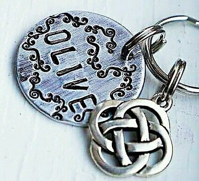 Collar Tags Dog Tags Cat ID Tags Pet iD Tags -personalized Celtic knot