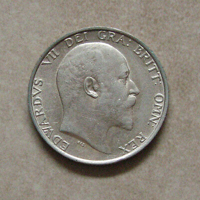 Silver Shilling 1907 Coin King Edward Vii Extremely Fine Grade