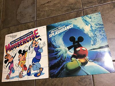 2 Records! Walt Disney Mousercise; Mickey Mouse Splashdance