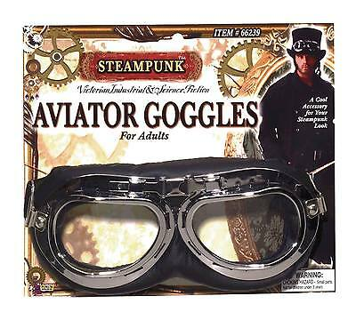 FANCY DRESS Steampunk Aviator Goggles Costume Accessory