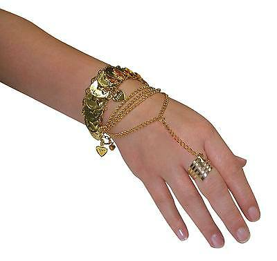 FANCY DRESS Hand Jewellery Desert Princess Egyptian Costume Accessory