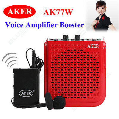 25W Waistband Voice Amplifier Booster Wireless Transmitter Microphone Fr Teacher