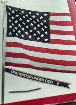 "Military & Public Service FLAGPOLE STREAMER Kit ""ONE NATION UNDER GOD"" NEW NIP"
