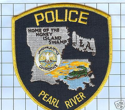 Police Patch  - Louisiana - Pearl River Home of the Honey Island Swamp