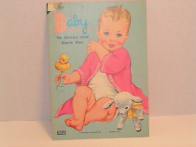 RARE Lowe BABY DOLLS: TO DRESS AND CARE FOR, UNCUT, EUC