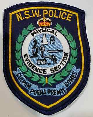 NSW New South Wales Physical Evidence Section Cloth Patch