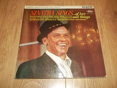 "Frank Sinatra "" Sinatra Sings ... Of Love And Things "" Capitol Mono Vinyl Lp Ex"