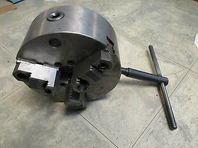 """3 Jaw Scroll Chuck 8"""" Spiral Drive Self Centering Includes Set of Hard Jaws"""