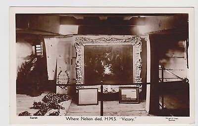 Where Nelson Died On H.m.s.*victory* X 1 Only Vintage Postcard..maritime History