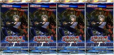 YuGiOh! Destiny Soldiers 1st Edition New And Sealed Booster Packs x4